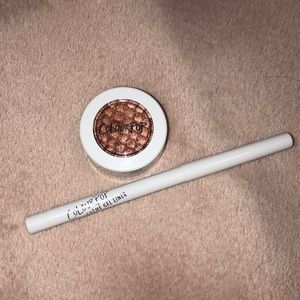 Colourpop copper eyeshadow and eyeliner